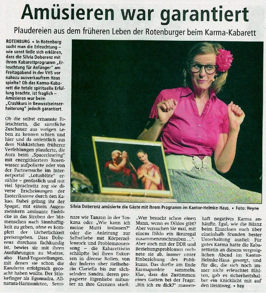 Pressestimmen - Silvia Doberenz